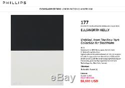 Ellsworth Kelly Signed Numbered Iconic1973 Screenprint Limited Edition, Framed