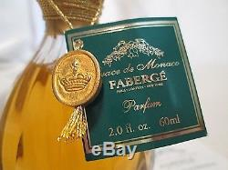 Faberge Grace de Monaco Limited Edition Perfume St Louis Crystal Signed Numbered
