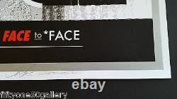 Face to Face by DFace & Shepard Fairey Signed dface obey not banksy dolk kaws