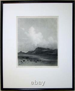 GEORGE ELBERT BURR Signed 1921 Softground Etching/Aquatint Evening Cloud