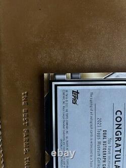 Griffey Jr/ Ichiro 2021 TOPPS MUSEUM DUAL ON CARD AUTO 6/15