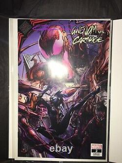 Gwenom vs Carnage #2 Clayton Crain Signed withCOA Cover A Venom Spiderman Marvel