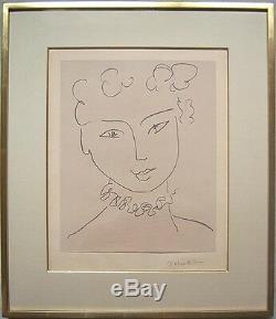 HENRI MATISSE Hand Signed 1951 Original Lithograph Pour Versailles
