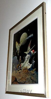 Hand Signed Frank Frazetta Encounter Limited Edition 1/1 Pp Painting