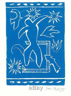 Henri Matisse Hand Signed Ltd Edition Print Joyful Man with COA (unframed)