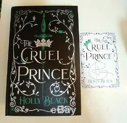 Illumicrate Limited Edition Cruel Prince by Holly Black Sprayed Edges + Signed