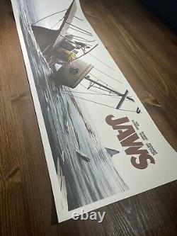 JAWS The Final Battle Art Print Poster JC Richard Signed 12 X 36 AP Mondo