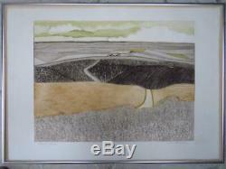 JOHN BRUNSDON (1933-2014) limited edition PENCIL SIGNED etching Dorset Summer