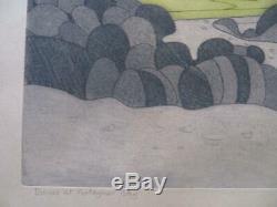 JOHN BRUNSDON (1933-2014) limited edition Welsh SIGNED etching PORT EYNON BAY