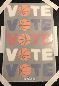 JONAS WOOD SIGNED VOTE Basketball Limited Edition Color Screen Print Sold Out