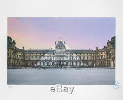 JR Au Louvre La Pyramide 12 Juin 2016 Limited Edition Lithograph Signed /250