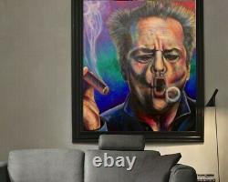 Jack Nicholson Limited Edition Artist Signed 30 x 40 Canvas Giclée Painting
