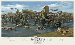 James Dietz art print showing Dick Winters autographed by the Band of Brothers