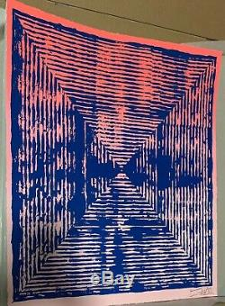 Jason Revok Loop Magenta Limited Edition Print Street Art Kaws 1/75