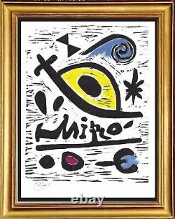 Joan Miro Hand Signed Ltd Edition Print Composition 26 with COA (unframed)