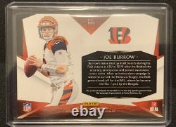 Joe Burrow 2020 Panini Limited Football RPA 3 Color Patch On Card Auto 01/60