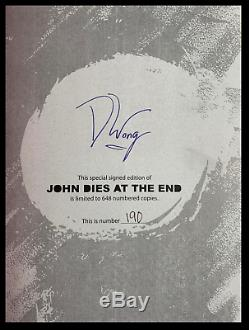 John Dies At The End SIGNED by DAVID WONG Mint Cemetery Dance Hardback 1/648