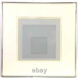 Josef Albers, Gray Instrumentation II e, signed print, 1975