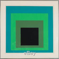 Josef Albers Original Hand Signed Print, Homage to the Square, DR-b, 1968