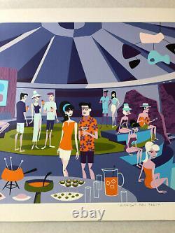 Josh Agle SHAG Midnight Pool Party Art Serigraph Print Elrod Palm Springs MCM