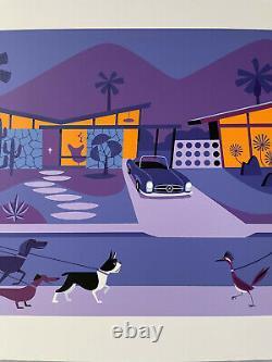 Josh Agle SHAG The Odd Bird Print with COA Palm Springs Mid Century Modern MCM