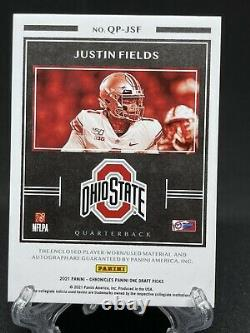 Justin Fields 2021 Panini One Patch/Auto #d /99 RC