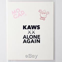 KAWS MOCAD SIGNED Print Alone Again RARE Limited Edition Banksy Murakami BFF