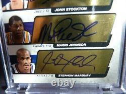 KIDD STOCKTON MAGIC MARBURY 2004-05 SP Edition Quadruple Auth Signatures 11/15