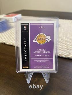 Kareem Abdul-Jabbar 2021 Impeccable Jersey Number Autographs 23/33 Auto Lakers