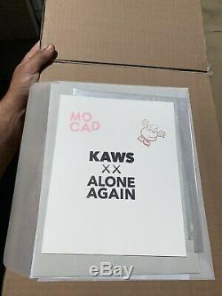 Kaws MOCAD Limited Edition Print Poster Companion BFF Signed 2019