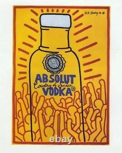 Keith Haring Absolut Vodka Poster MAKE OFFER