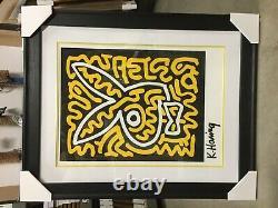 Keith Haring Bunny II CUSTOM FRAMED Limited Edition Serigraph Art Rare Playboy