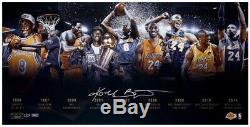 Kobe Bryant Signed Lakers Timeline 16x32 Limited Edition Photo (Panini COA)