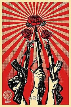 LIMITED EDITION Guns and Roses by Shepard Fairey (Obey) 2007 (Very rare)