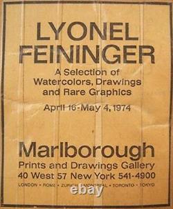 LYONEL FEININGER Signed 1918 Original Woodcut Marine