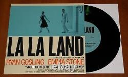 La La Land Ost Justin Hurwitz Rare Signed Lp Blue Vinyl & 7 Single Promo