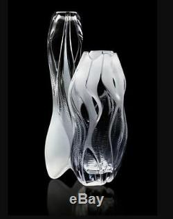 Lalique Crystal Manifesto By Zaha Hadid Crystal 18 in Vase Clear 23 lb LE MIB