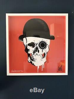 Large Dan Gold Limited Edition Art Print not Banksy, Pure Evil, Damien Hirst