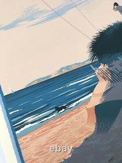 Laurent Durieux Signed Jaws Marthas Vineyard Sunrise Mondo Movie Print Poster