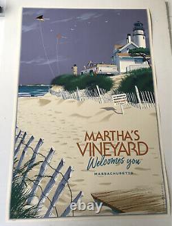 Laurent Durieux Signed Jaws Marthas Vineyard Variant Mondo Movie Print Poster