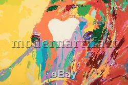 Leroy Neiman Olympic Jumper Horse Racing Limited Edition Painting Serigraph