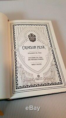 Limited Edition Crimson Peak signed hardcover novelization Numbered #403/500