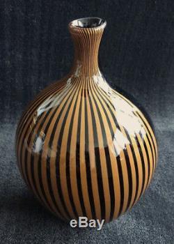 Lino Tagliapietra signed vase 27/100 Murano 1982 Effertre Internationale
