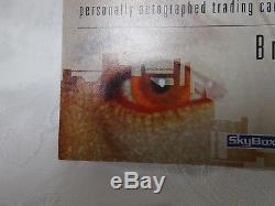 Lt Commander Data, Brent Spiner SIGNED skybox 1996 Limited Edition Card RARE