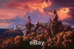Mark Maggiori Purple Haze Limited Edition Western Cowboy Signed Fine Art