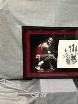 Michael Jordan Autographed Tegata Lithograph Limited Edition