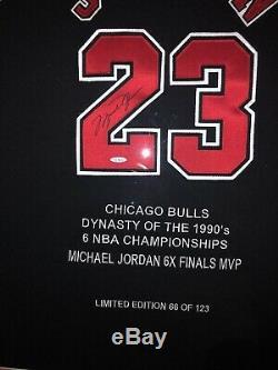 Michael Jordan Framed Signed Jersey UDA LIMITED EDITION