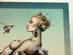 Michael Parkes NECTAR s/n Limited Edition stone lithograph reg $3500 hummingbird