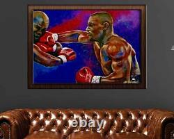 Mike Tyson & Evander Holyfield Artist Signed Limited Edition 30 x 40