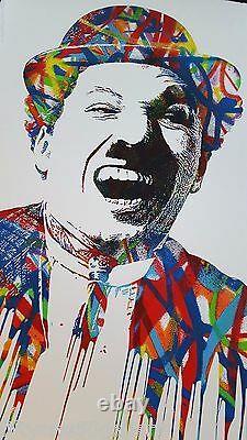 Mr Brainwash Charlie Chaplin Print Signed #'d LE MBW not banksy kaws fairey obey